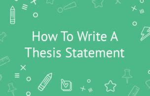 A thesis statement is similar to